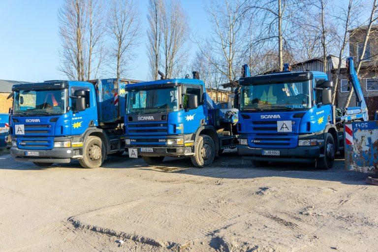 ABEG-Containerdienst Berlin LKWs